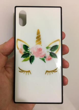 Тонкий стильный чехол из термополиуритана для iphone x xs