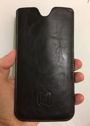 Стильный качественный дорогой кожаный чехол  для samsung note ...