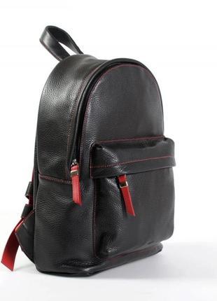 Мини рюкзак кожаный женский городской брендовый borlino lava red