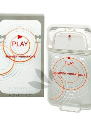 Play summer vibrations givenchy одеколон парфюм для мужчин 100 ml