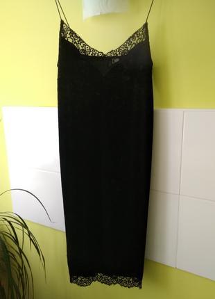 Платье на тонких бретелях с кружевом от H&M