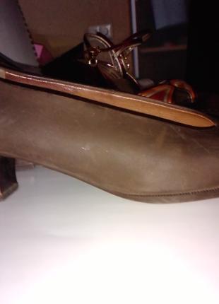 Туфли HOGL нубук, коричневые(б/у), размер 36