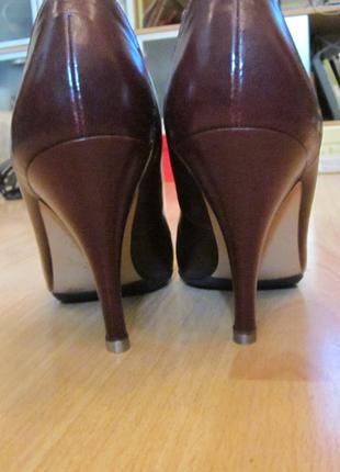 Туфли на шпильке gabor 36/22,5см по стельке цвет бордо, гладка...