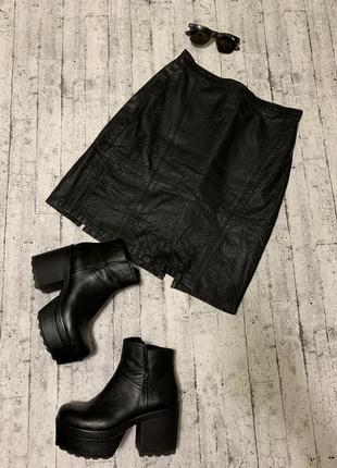 Базовая кожаная юбка 100% натуральная кожа
