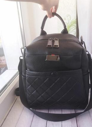 Кожаный рюкзак женский жіночий шкіряний портфель