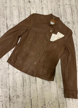 Кожаная куртка heine 100% натуральная кожа с перфорацией