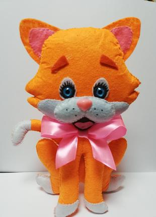 Кот Рыжик из фетра