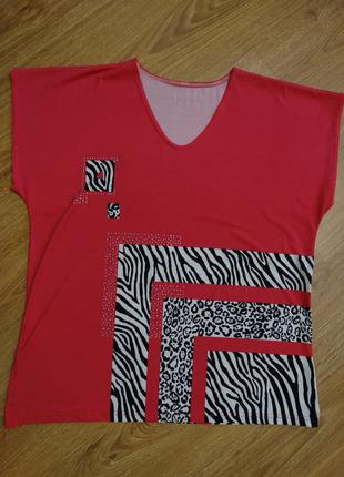 Розовая футболочка/маечка размера 2xl
