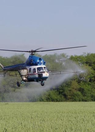 Обработка полей вертолетами по всей Украине (Авиахимработы).