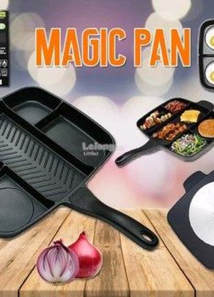 Инновационая сковорода гриль с антипригарным покрытием