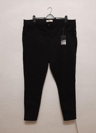 Стильные модные черные джинсы большого размера