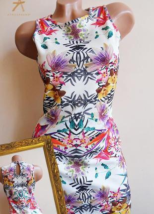 🌺роскошное цветочное платье, тропический принт орхидеи🌺