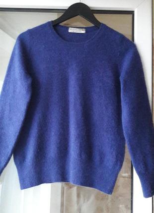 Кашемировый свитерок чернильного цвета
