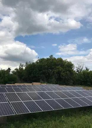 Домашняя сетевая солнечная электростанция 30 кВт