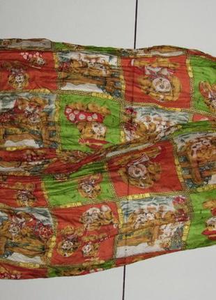 Шелковый шарф - собаки - 42х172 см - оригинал - германия!!!