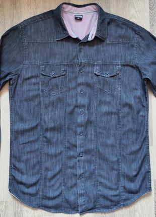 Джинсовая мужская рубашка Urban Classics, размер XXL