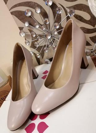 Туфли классические бежевые натуральная кожа naturalizer