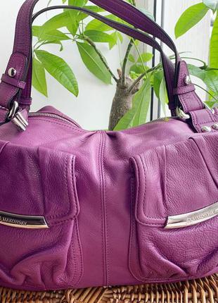 Брендовая кожаная сумка b.makowsky
