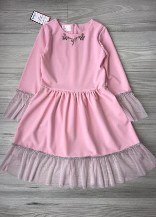 Одену даже коллектив стильное нарядное платье  на рост 116-152см