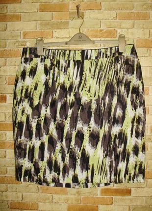 Красивая льняная юбка карандаш 100% лен 16/50-52 размера