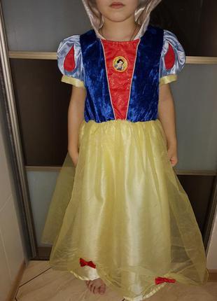 Карнавальный костюм белоснежка на 6-8 лет