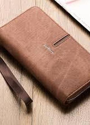Мужской кошелек портмоне baellerry denim (s1511) коричневый