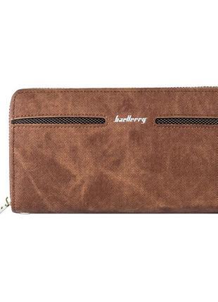 Мужской кошелек портмоне baellerry denim (s1512) коричневый