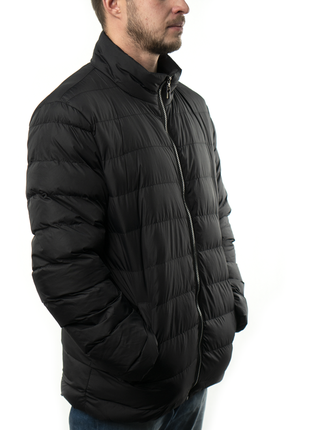 Мужская куртка короткая осень-весна (mo0723) черная