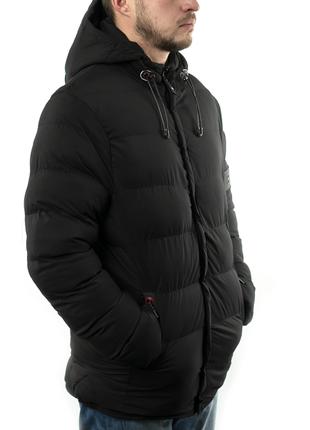 Мужская куртка короткая зима-осень (mo1835) черная