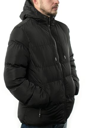 Мужская Куртка Короткая Зима-Осень (MO9333) Черная