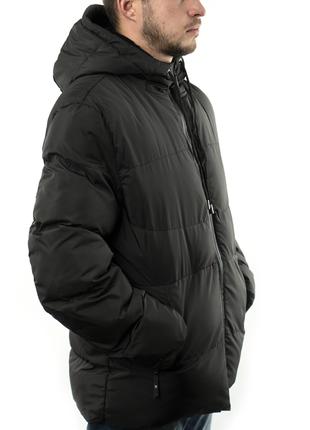 Мужская куртка короткая осень-весна (mo862) черная