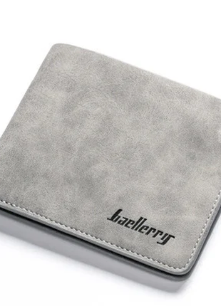 Мужской Кошелек Бумажник Baellerry (D1152) Серый