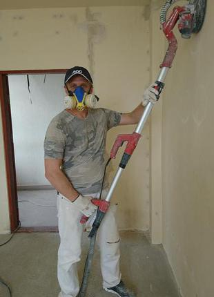 ШЛІФУВАННЯ стін, стель, підлог, штукатурка, шпаклівка, бетон