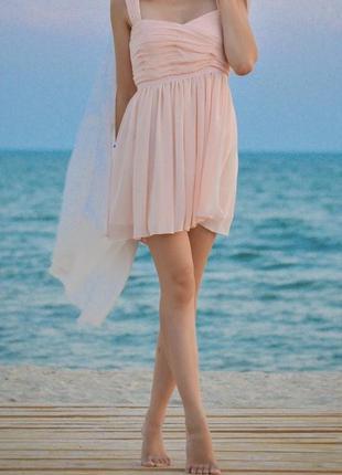 Платье в цвете беж, сарафан