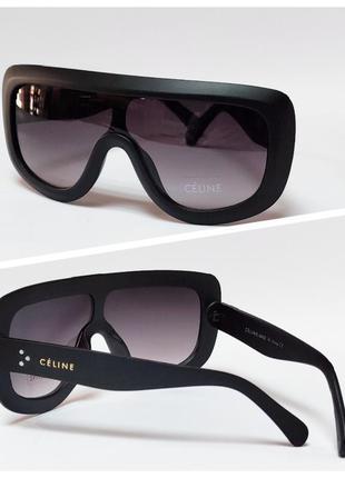 Очки солнцезащитные маска черные
