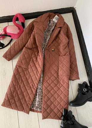 Стёганное пальто на весну