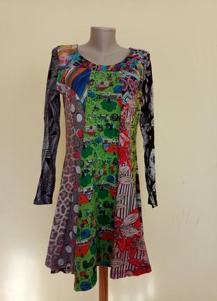 Яркое эксклюзивное платье