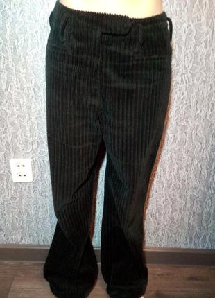 Брендовые женские брюки вельветовые с высокой посадкой.. nehera.