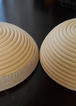 Расстоечная форма корзина из ротанга для хлеба, на 0,75 кг, круг