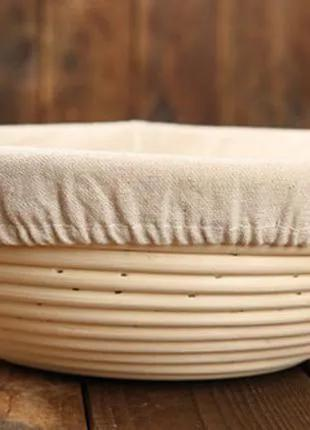 Ротанговая форма для расстойки теста, круглая, на 1 кг, с чехлом
