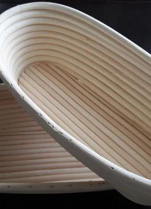 Формы корзинки из ротанга для расстойки хлеба, овал на 500 г