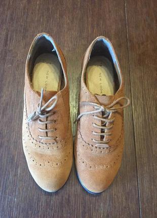Туфли, окфорды new look 38 р ( 24 см) замшевые.