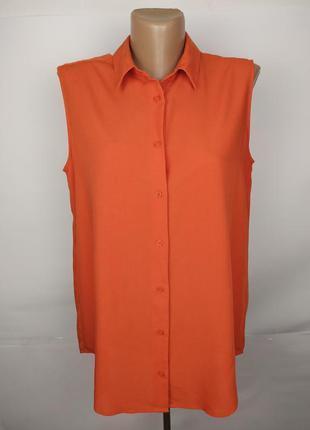 Блуза оригинальная оранжевая красивая uniqlo uk 12/40/m