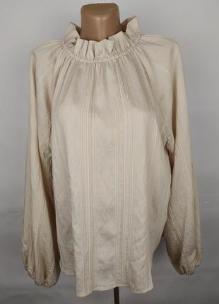 Блуза новая кремовая шикарная оригинальная h&m uk 12/40/m