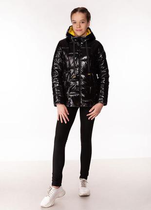 Inga - детская демисезонная куртка, цвет черный