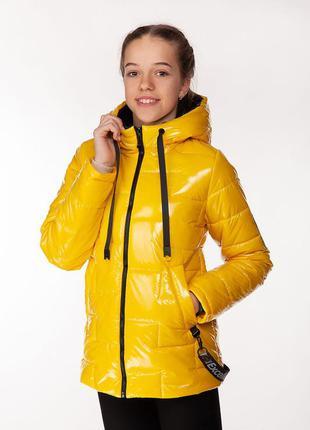 Inga - детская демисезонная куртка, цвет желтый