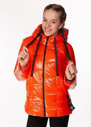 Inga - детская демисезонная куртка, цвет оранжевый