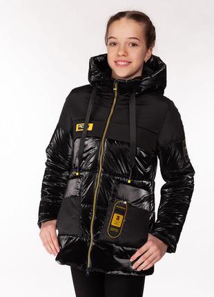 Rina - детская демисезонная куртка, цвет черный