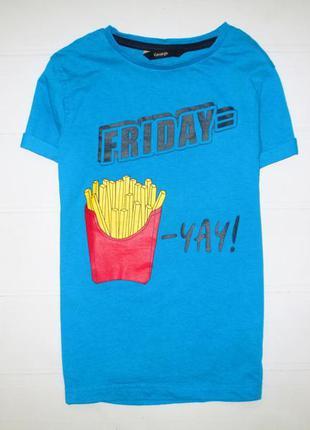 Прикольная футболка 🍟george на 6-7л