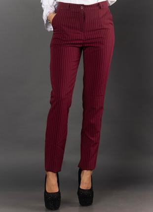 Женские брюки в полоску с карманами 2014